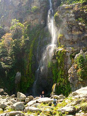 Dinira National Park - Image: Cascada del Vino..