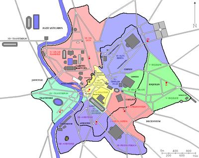 ókori róma térkép Róma város közigazgatási felosztása a császárkorban – Wikipédia ókori róma térkép