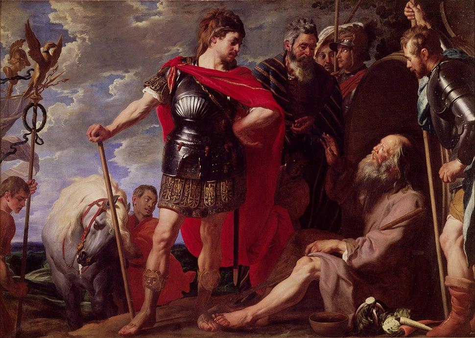 Caspar de Crayer Alexander and Diogenes