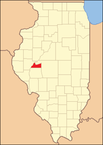 Cass County, Illinois - Image: Cass County Illinois 1837