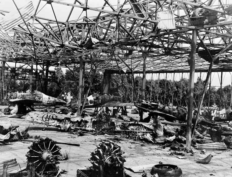 File:Castel Benito airfield destroyed hangar 1943.jpg