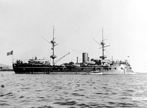 Italian ironclad Castelfidardo - Castelfidardo in the 1880s