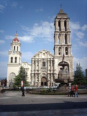 Façade de la Cathédrale Santiago a Saltillo, é...