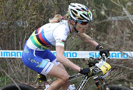 Catharine Pendrel at the World Cup in Houffalize 2012.jpg