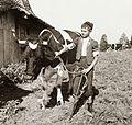Cattle, kid, shepherd, herdsboy Fortepan 92297.jpg
