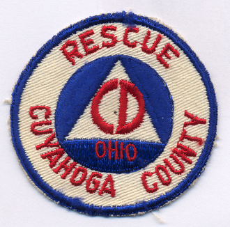 United States civil defense - A Civil Defense patch for Cuyahoga County, Ohio