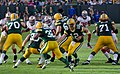 Cedric Benson and Aaron Rodgers - San Francisco vs Green Bay 2012.jpg