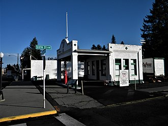 National Register of Historic Places listings in Whitman County, Washington - Image: Central Service Station NRHP 07000365 Whitman County, WA