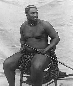 Battle of Ulundi - Photograph of Cetshwayo, c. 1875
