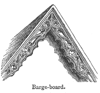 Bargeboard Architectural element of a gable roof