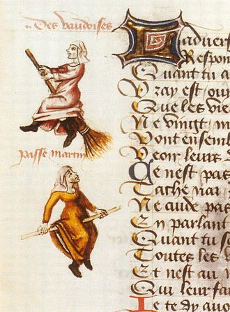 Waldensians - Illustrations depicting Waldensians as witches in Le champion des dames, by Martin Le France, 1451