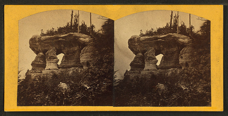 File:Chapel, west view. Pictured Rocks, from Robert N. Dennis collection of stereoscopic views.jpg