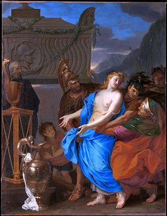 Polyxena - The Sacrifice of Polyxena, 1647, by Charles Le Brun,  Metropolitan Museum of Art