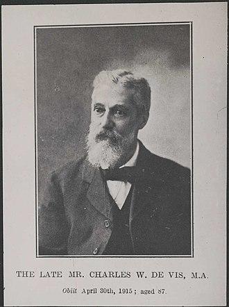 Charles Walter De Vis - Charles Walter De Vis