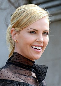 A photograph of Theron attending the 2015 Cannes Film Festival