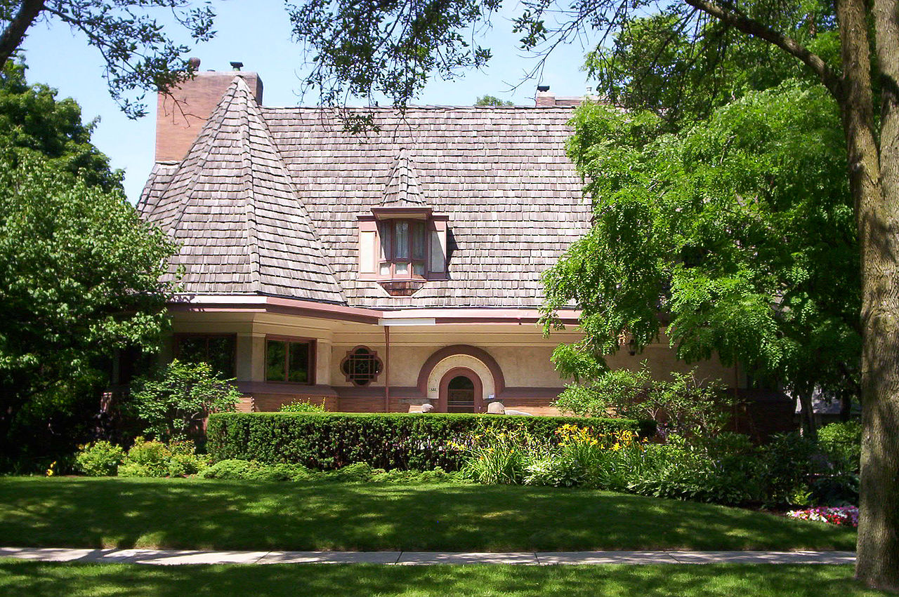 File chauncey l williams house wikimedia commons for Frank lloyd wright architettura organica
