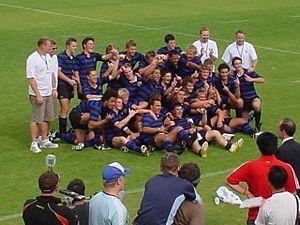 Christchurch Boys' High School - Christchurch Boys HS 2006 Sanix World Rugby Youth Tournament champions at Global Arena