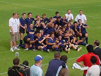 Christchurch Boys' High School - Christchurch Boys HS 2006 Sanix World Rugby Youth Tournament champions at Global Arena