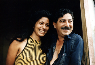 Chico Mendes - Chico Mendes and his wife, Ilsamar Mendes, at their home in Xapuri  in 1988