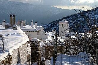 Alpujarra Granadina - Winter landscape in Capileira.