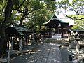 Chozuya and Shimmon Gate of Suiten Shrine.jpg