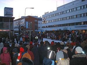 Rovaniemi - Christmas celebration in Rovaniemi, November 2004