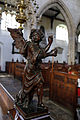 Church of St Mary Hatfield Broad Oak Essex England - St Matthew divine man sculpture.jpg