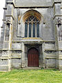 Church of the Holy Cross Great Ponton Lincolnshire England - tower west door and window.jpg