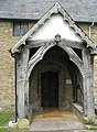 Church porch at St Michael, Onibury - geograph.org.uk - 1443186.jpg