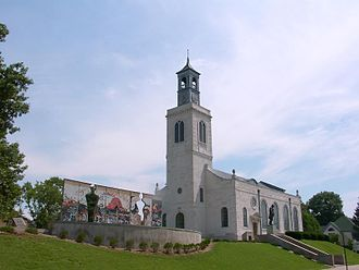 Westminster College (Missouri) - Christopher Wren designed Church of St Mary Aldermanbury, rebuilt at Westminster College, Missouri