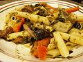 Cilantro Vegan Pesto Mostaccioli with Veggies (3756371459).jpg