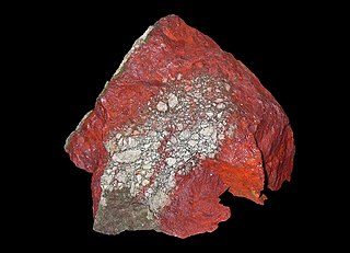 Cinnabar Red mercury sulfide mineral
