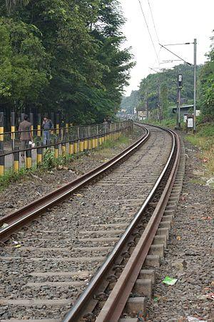 Kolkata Circular Railway - A photo of the Circular Railway track taken in Kolkata