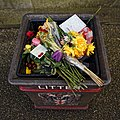 City of London Cemetery and Crematorium binned floral tributes.jpg