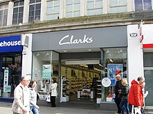 6602c0eaf8feb A Clarks shoe shop in Southampton