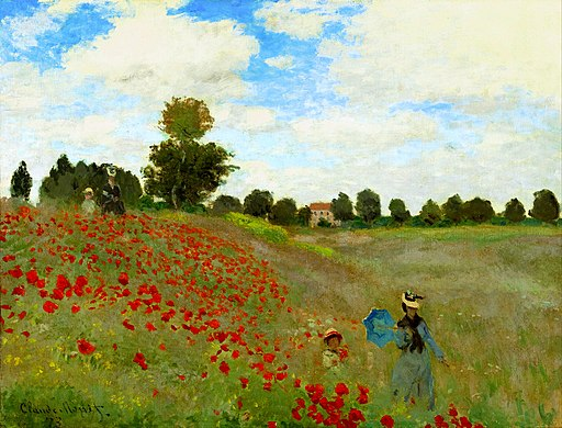 Claude Monet - Poppy Field - adjusted
