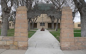 National Register of Historic Places listings in Union County, New Mexico - Image: Clayton NM school W gate 1