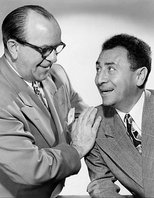 Straight man (stock character) - Photo of Cliff Hall (left) and Jack Pearl from the radio program The Baron and the Bee. Pearl played the Baron and Hall, his straight man, was the Bee.