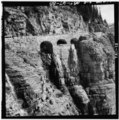 Close view of Triple Arches area and slope below, view easterly - Going-to-the-Sun Road, West Glacier, Flathead County, MT HAER MONT,15-WEGLA,5-88.tif