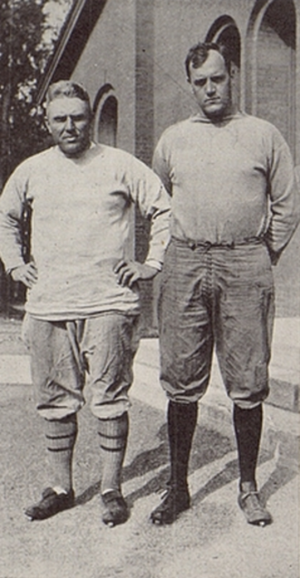 William P. Edmunds - Edmunds (right) pictured with Clyde Engle in Ariel 1921, Vermont yearbook