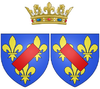 Coat of arms of Louise Bénédicte de Bourbon as Duchess of Maine.png