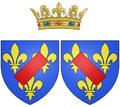 Coat of arms of Louise Bénédicte de Bourbon as Duchess of Maine.png