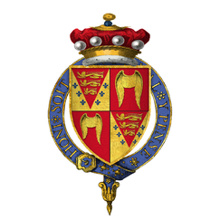 Coat of arms of Sir Thomas Seymour, 1st Baron Seymour of Sudeley, KG