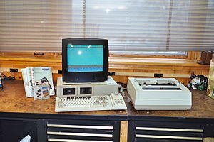 Coleco Adam - The Coleco Adam, in word processing mode.