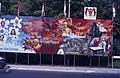 Collectie NMvWereldculturen, TM-20019399, Dia- Schildering ter gelegenheid van het 40-jarig jubileum van de viering van Onafhankelijkheidsdag, Henk van Rinsum, 08-1985.jpg