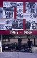 Collectie NMvWereldculturen, TM-20019431, Dia- Bord met foto's over de geschiedenis van de Indonesische republiek. Ter gelegenheid van de 40 jarige onafhankelijkheid, op het Manasterrein in Jogjakarta., Henk van Rinsum, 1985.jpg