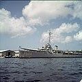Collectie Nationaal Museum van Wereldculturen TM-20029894 Marineschip in het Schottegat Curacao Boy Lawson (Fotograaf).jpg