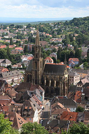 Thann, Haut-Rhin - Image: Collegiale De Thann Oeil De La Sorciere