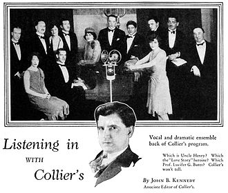 The Collier Hour - The uncredited ensemble presenting The Collier Hour in a feature story by John B. Kennedy, associate editor of Collier's (1930)
