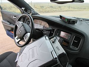 Colorado State Patrol - Interior of Colorado State Patrol Dodge Charger patrol vehicle